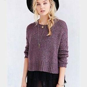 UO Kimchi Blue Oversized Boucle Sweater Purple M